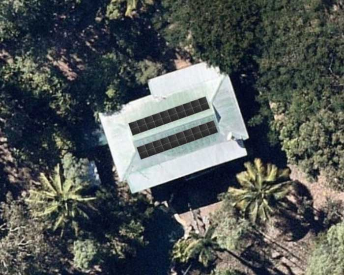 Photo of Aerial View of Ian's House roof_of_house