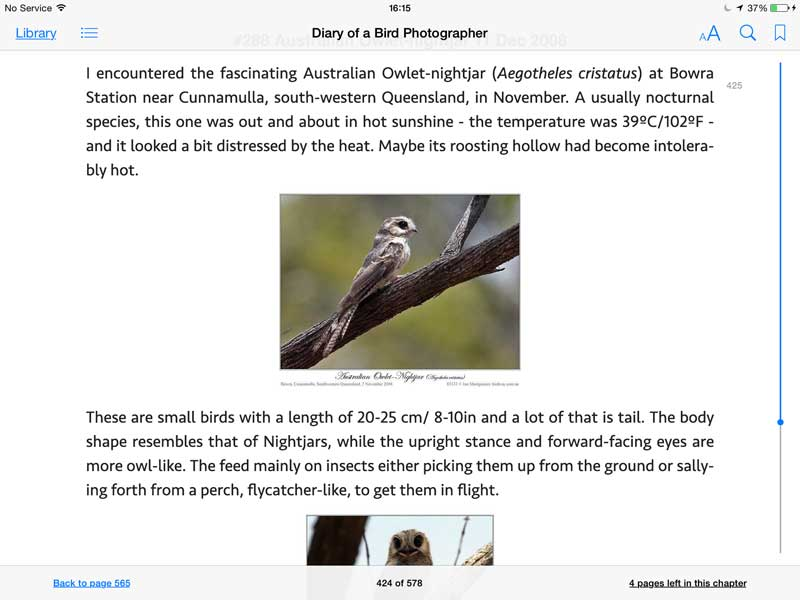 Screen shot from Diary of a Bird Photographer